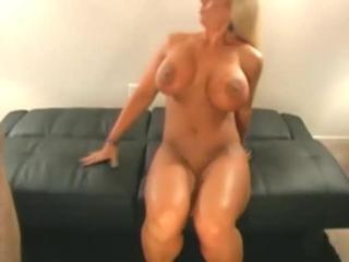 Big-Boobed Blonde MILF  Gets Hard  Stick Up Honey Pot
