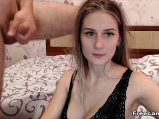 GF Does a Hot BJ and Deepthroat