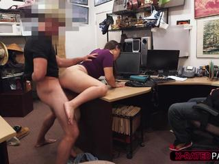Tomyboy and gf gets caught stealing sp the shop owner punish them with his big cock