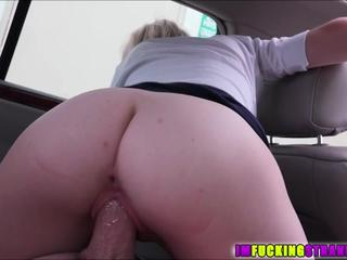 Blonde and petite Maddy Rose is stranded and gets a free ride