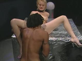 Ravishing Blonde Babe Stuffs Black Rod Up Her Snug Pussy