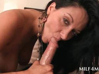 Bitchy MILF gets slit banged hard from behind