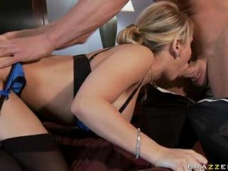 Slutty Housewife Fucks Her Hubby's Business Partner As Her First Client