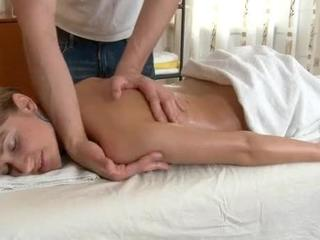 Blonde Chick Gets A Massage And Fuck