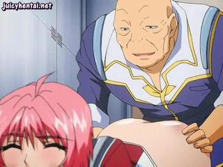 Hentai redhead drinking hot sperm