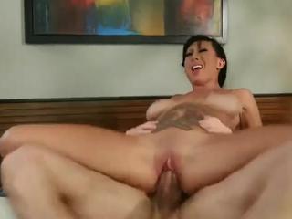 Petite big tits tattooed brunette fuck