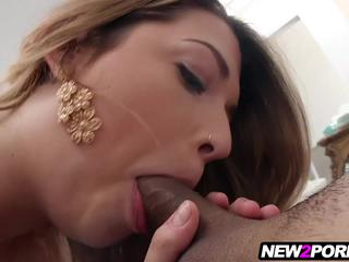 Jenna is totally new to porn and loves fucking