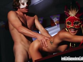 Ultimate fucker Janice Griffith getting fucked at the masquerade party