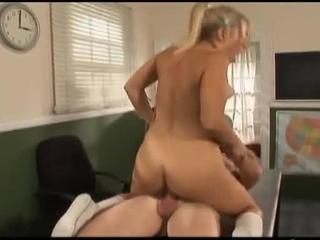 Lovely Blonde Teen Loves Cocksucking & Fucking