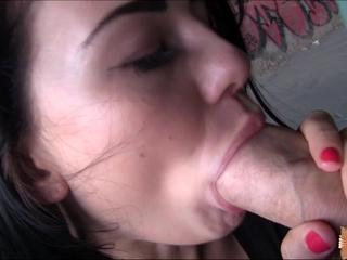 Annas beautiful face gets covered with a sticky facial after a revenge fuck