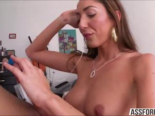 Lovely skank Angelica Saige takes Mikes cock for deepthroat