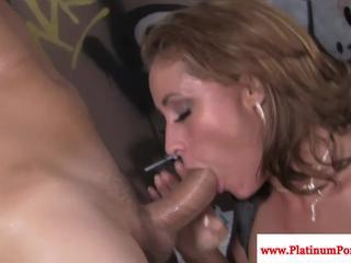 Big boobs Eva Notty fucks and sucks cock