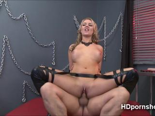 Hot blonde Alexis Monroe gets hardcore pounding and receives facial