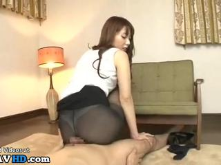 Japanese beauty having the best pantyhose sex - More at Elitejavhd.com