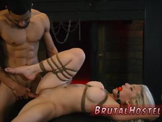 Pussy slave and stuffed gag bondage xxx Big-breasted light-haired