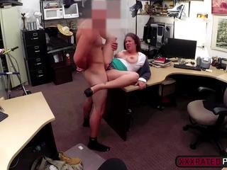 MILF sucks a dick for cash and gets turned on and fucked