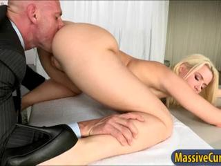 Big ass Annika Albrite shows off curves and bouncing on cock