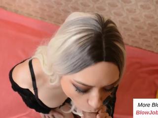 PART1: Hot blonde destroys my cock - Watch Part 2 on BlowJobPlus.com