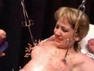 slave Lola used as needle cushion