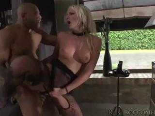 Two hot chicks gang up on a black dude but they get dominated by dark dick