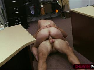 Hot Cuban pawns tv gets fucked by store manager at his office