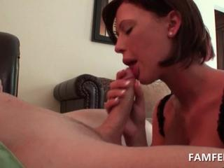 Tattooed slut blows and tit fucks giant cock